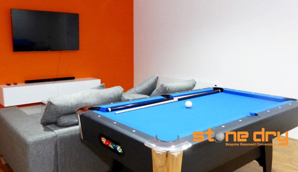 basement gym, cinema and games room - stone dry bespoke basement