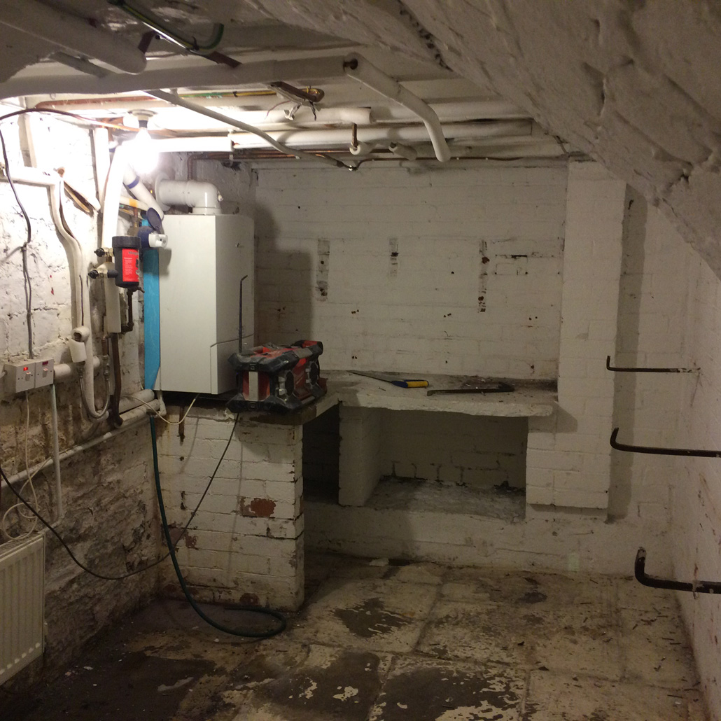 Basement Utility Room Conversion In West Yorkshire